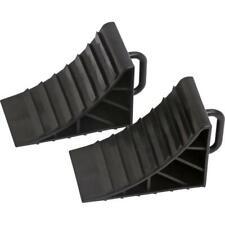 2x Wheel Chocks Tyre Saver Brake Stoppers Ridged Caravan Motorhome Car Wedges
