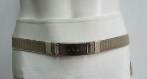 MARNI Beige Stretch Belt Size 80/32
