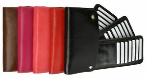 Unisex Business Case Wallet ID Credit Card Holder Purse Stylish Black Brown More