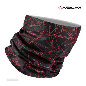 Nalini COLLAR 2.0 Winter Cycling Face Mask Neck Wrap : BLACK/RED