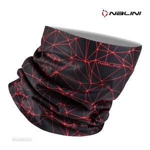 Nalini COLLAR 2.0 Winter Cycling Face Mask Neck Wrap : BLACK/RED