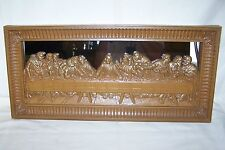 "Vintage Home Interiors Homco Mirrored Last Supper Picture Plaque 22"" x 10"""
