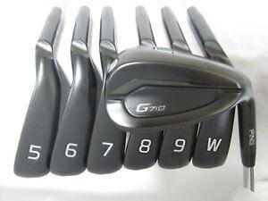 Used RH Ping G710 Black Dot Iron Set 5-W,U Regular Flex Steel Shafts