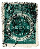 (I.B) New Zealand Revenue : Land & Deeds 1/- (larger format)
