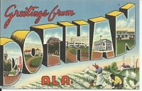 Greetings From Dothan Alabama Large Letter Postcard