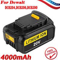 DCB204 For DeWalt DCB205 DCB206 20V Max XR 4.0 4.0AH Lithium ion DCB200 Battery