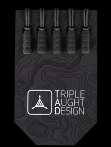 Triple Aught Design  BLACK & GUNMETAL Zipper pulls 5 each color 10 total 2 packs