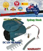 12V DC Solar Fish Pond Hydroponics Aquaculture Air Pump 68L/Min
