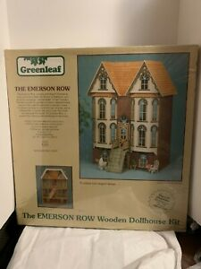 Rare VTG Greenleaf The Emerson Row Victorian Wooden Doll House Sealed Box New