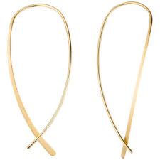 Durchzieh-Ohrhänger 925 Silber gold vergoldet mattiert Ohrringe zum Durchziehen