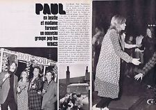 Coupure de presse Clipping 1971 Paul MacCartney (2 pages)  291115