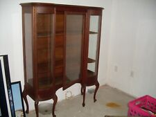 Vintage / Antique Curved Glass Cabinet Wood, Very Good Condition