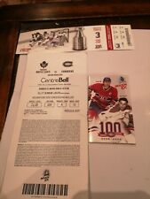 Montreal Canadiens 100th Season Regular season ticket, play off ticket, schedule