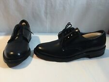 Deadstock Vintage Hanover Imperial Low Quarter Oxford Shoes Black USA 6.5 D
