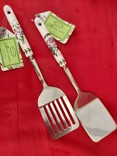 Portmeirion Botanic Garden.  Slotted Spatula & Spatula. Brand new with tags