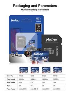 Netac 32GB-128GB Micro SD Card With Adapter Class 10 Memory Card TF Card lot