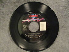 """45 RPM 7"""" Record Gloria Loring You Always Knew & Friends & Lovers 1986 ZS4 06122"""