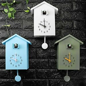 Modern Bird Cuckoo Quartz Wall Clock Home Living Room Horologe Clocks Timer