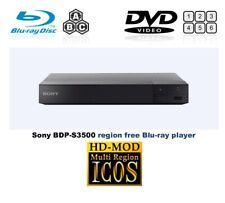 Sony BDP-S3500 WiFi MULTI REGION ALL REGIONS Free ABC DVD 1-8  Blu-Ray Player