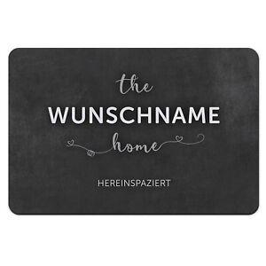 Fußmatte mit Namen Wunschtext Fußabtreter Home lustige Fussmatte Text Spruch