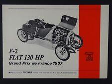 Pocher 1:8 Bauanleitung F-2 Fiat 130 HP Grand Prix de France 1907 K70 K77 neu