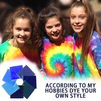 7 Colors One-step Tie-dye Pigment Powder Pack Cotton Fabric Textile Paint Kit
