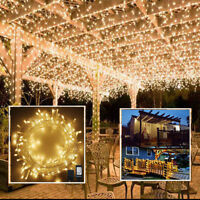 100-400 LED Bulbs Christmas Fairy String Lights Xmas Party Wedding Garden Decor