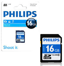 GENUINE PHILIPS 16GB SD SDHC HD MEMORY CARD CLASS 4 DIGITAL CAMERAS VIDEO PHONE