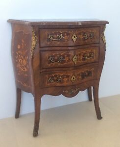 French Antique Marquetry Commode Louis XV Style C.1880 …One  of a Matched Pair.