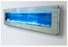 Wall Aquarium Backgrounds: Blue Sea and Grey Rock