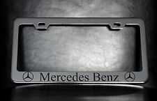 """Mercedes-Benz"" License Plate Frame, Custom Made of Chrome Plated Metal"