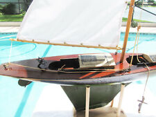Keystone 24 inch sailboat with hatches and anchor by Chester Rimmer