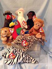 Ty Beanie Babies Lot of 8  Retired 1995 thru 1998  3+  Boys & Girls    $10.99