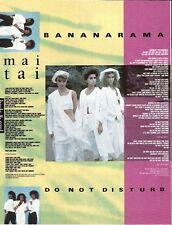 "BANANARAMA Do Not Disturb lyrics  magazine PHOTO / Pin Up / Poster 11x8"""