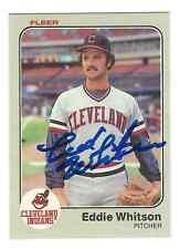 Signed ED WHITSON 1983 FLEER Cleveland Indians Card #423 - COA
