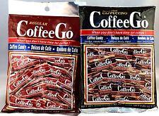2 BAG SET CoffeeGo Coffee and Cappuccino Go Hard Candy 4.04 oz Indonesia