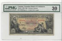 **1935**Bank of Commerce, Toronto 751810, $20 Note ;PMG*VF-30*SN# 109466