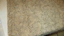 Dark Beige Leaf Print Cut Chenille Upholstery Fabric  1 Yard  F1320