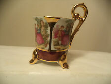 Ohashi China 1932  OHC  Made In Japan Victorian design 3 Footed Demitasse Cup