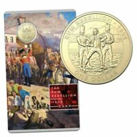 2019 $1 Brilliant UNC The Rum Rebellion Australia Coin in RAM Card