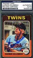 HARMON KILLEBREW PSA DNA COA Autograph 1975 TOPPS Authentic Hand Signed