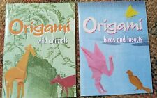 Lot of 2 Origami books by John Montroll: Birds and Insects & Wild Animals