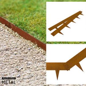 Rasenkante Metall Beeteinfassung Corten Stahl Beetumrandung ab 5M (€16,50/M)