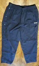 FILA mens xl tear away snap pants skeets dark blue