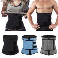 Women Sweat Body Shapers Waist Cincher Corset Trainer Zip Belt Workout Girdle US