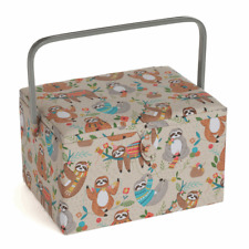 Large Sewing Box / Basket ~ Sloth ~ Hobbygift ~ MRL566