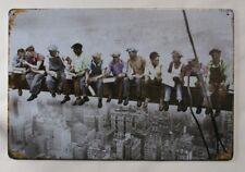 Mittagspause Lunch Wolkenkratzer Blechschild 20cm x 30cm New York Arbeiter