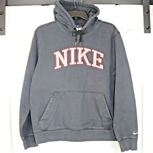 Nike Spellout Black/Red Hoodie Size L (See Measurements)
