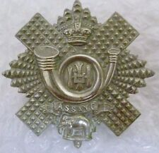 Badge- VICTORIAN Highland Light Infantry Cap Badge QVC (WM,Original*)