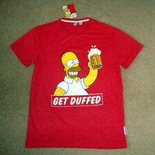 9ab58475 Men's THE SIMPSONS Official Tee BNWT Size M T-Shirt Top Get Duffed Duff  Homer